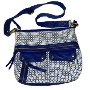 Fossil Bags Morgan Traveler Crossbody Blue Bag